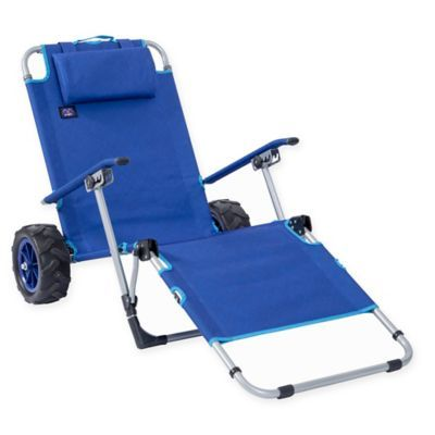 Keep Your Beach Gear In One Place With The Mac Sports Beach Day Multi Purpose Lounger And Cart This 2 In 1 Design Featu Folding Lounge Chair Lounger Beach Day