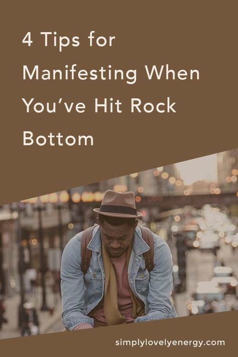 Learn how to use the Law of Attraction to manifest what you want when something sad has happened and you've have hit rock bottom. #lawofattraction #loa #manifest #spirituality #personaldevelopment #rockbottom #limitingbeliefs