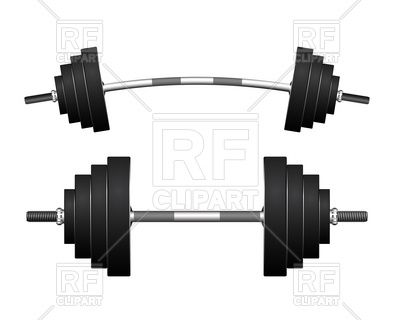 Curved Barbell And Heavy Dumbbell 12389 Sport And Leisure Download Royalty Free Vector Clipart Eps Free Vector Clipart Clipart Design Vector Artwork