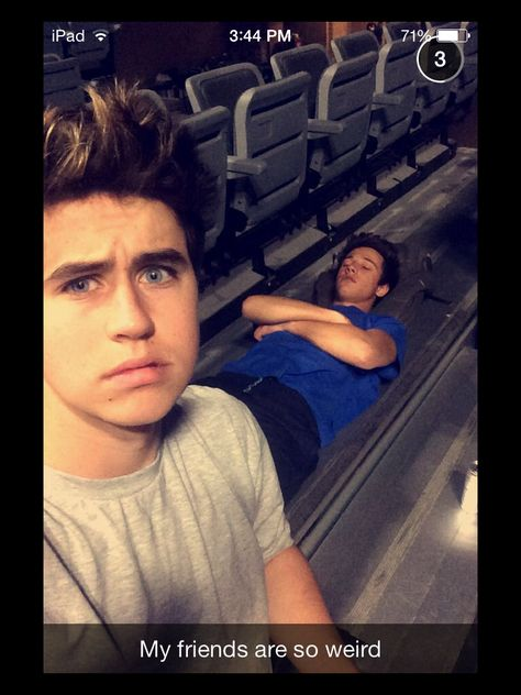 What's the first thing you see here Nash , Cam sleeping and then there's Nashes blue eyes.