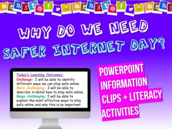 Safer Internet Day Resource Pack The Pack Includes A Powerpoint Full Of Information As Well As Activities A Scavenger H Safe Internet Day Learning Objectives