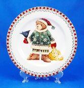 Debbie Mumm Sakura Christmas Bears Salad Plate Set | Debbie Mumm 25 ...