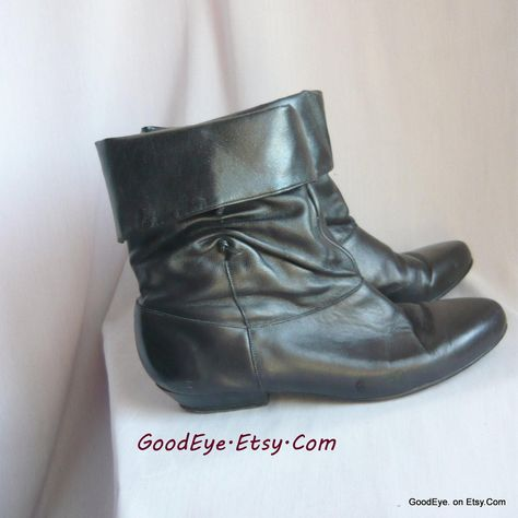 Vintage 80s PIXIE Slouch Ankle Boots