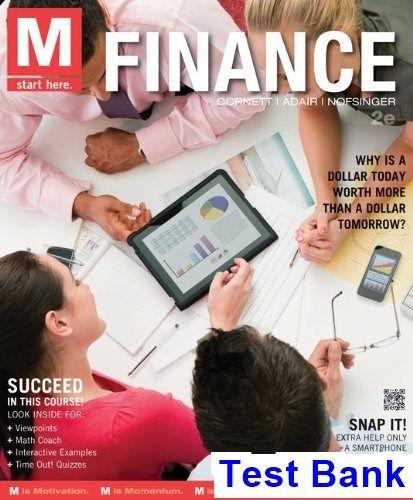 M Finance 2nd Edition Millon Test Bank | Test Bank | Finance