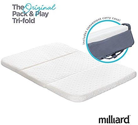 Amazon Com Milliard Tri Fold Pack N Play Mattress Baby Pack And Play Pack N Play Mattress Pack And Play Mattress