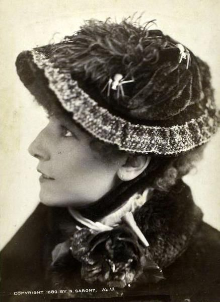 Sarah Bernhardt, French actress, who performed in Europe, and on…