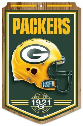 Green Bay Packers Wood Sign 11 X17 Established Design Green Bay Packers Signs Green Bay Packers Green Bay