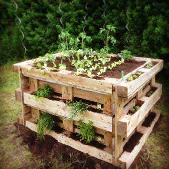 Zum Fertigen Hochbeet Aus Paletten In Weniger Als 2 Stunden Garten Garten Hochbeet Gartengestaltung Ideen