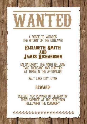 New Wedding Invitations Wording Funny