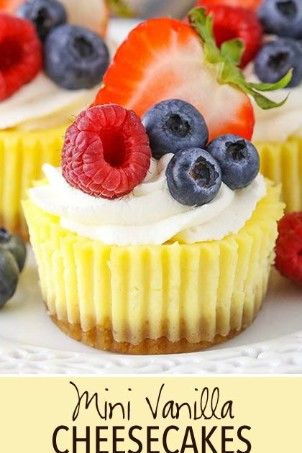These Mini Cheesecakes Cupcakes Are Smooth And Creamy With A Little Tang From Sour Cream They Hav Mini Cheesecakes Sour Cream Recipes Mini Cheesecake Recipes