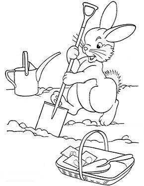 Osterhase Pflanzt Karotten Zum Ausmalen Ausmalbilder Malvorlagen Ostern Osterhase Kindergarten Osterhase Osterhase Malen Ausmalbilder Ostern