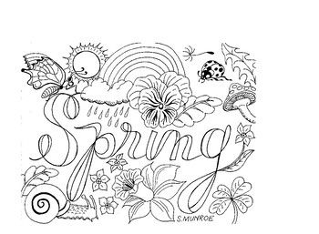 Spring Colouring Page Spring Coloring Pages Spring Coloring Sheets Coloring Pages