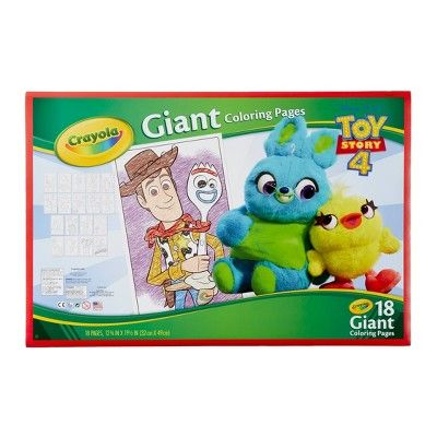 Crayola 18pg Toy Story 4 Giant Coloring Book White Coloring Books Toy Story Crayola
