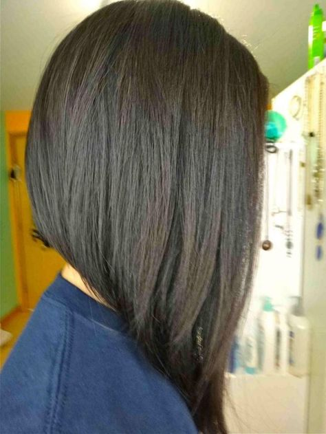 Angled Bob Haircust Side Views Women Medium Haircut Frisuren