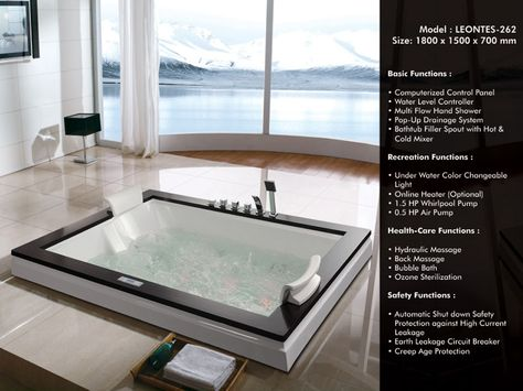 8 best whirlpool bathtub images on Pinterest Hot tub bar - whirlpool badewanne designs jacuzzi