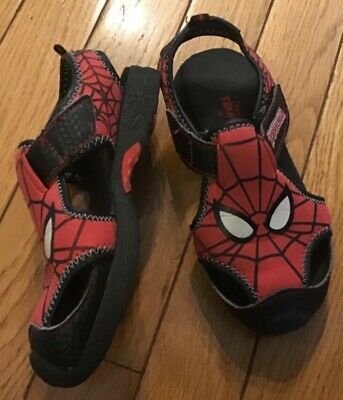 Spiderman Toddler Boy/'s Fashion Black//Red Fisherman Sandals Shoes