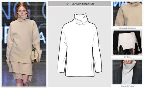 Women's key items F/W Sweaters and Knits: Turtleneck