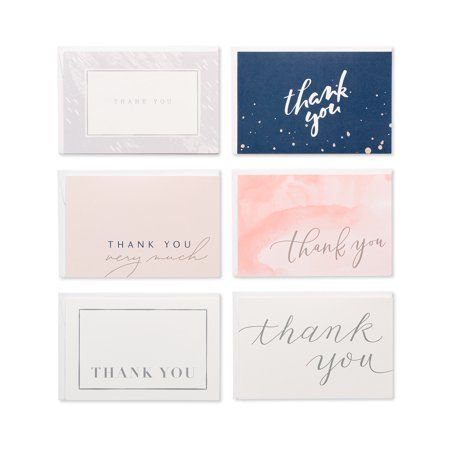 American Greetings Thank You Greeting Cards 48 Count 4 5 X 6 7 Envelopes Included Walmart Com Graduation Thank You Cards Thank You Card Design Thank You Greetings