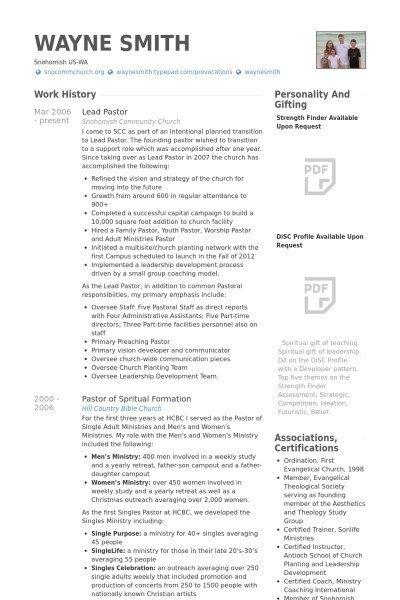 New Senior Pastor Resume Atclgrain Resume Template Resume Design Template Downloadable Resume Template