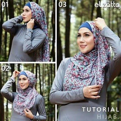 Tutorial Hijab Ala Elzatta Pramugari