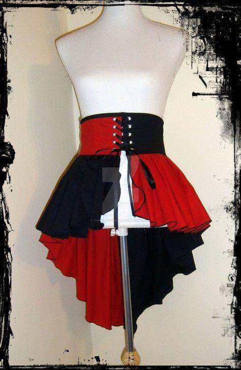 Harley Quinn Cosplay Hi Low Skirt. Omg I love Harley Quinn