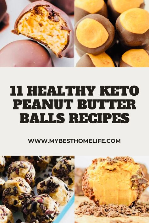 You're going to love these recipes for keto peanut butter balls.  They're simple to make, healthy, and only take a few ingredients! #ketorecipes #ketodessert #ketorecipeseasy #healthyrecipes #healthydesserts #dessertfoodrecipes #dessertseasy #peanutbutter #peanutbutterrecipes #peanutbutterballs