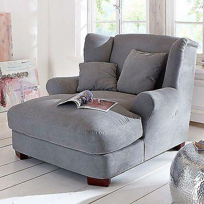 Big Longchair Armchair Mega Armchair Xxl Armchair Ohrarm Grau Big Sofa Design Wohnzimmer Sessel Xxl Sessel Riesensessel