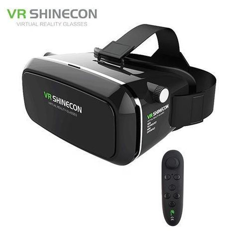 Original Vr Shinecon 3D Glasses Pro Virtual Reality Vr Google Cardboard Headset Head Mount For