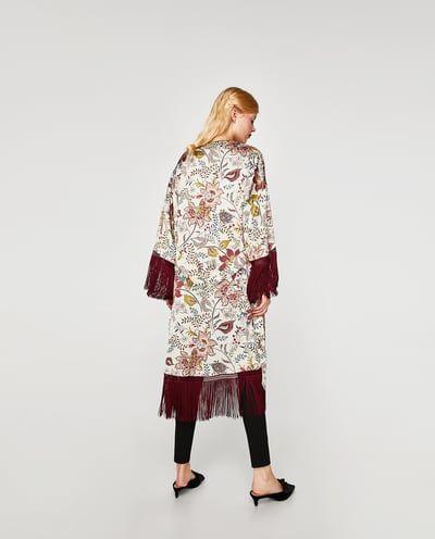 kimono zara rebajas