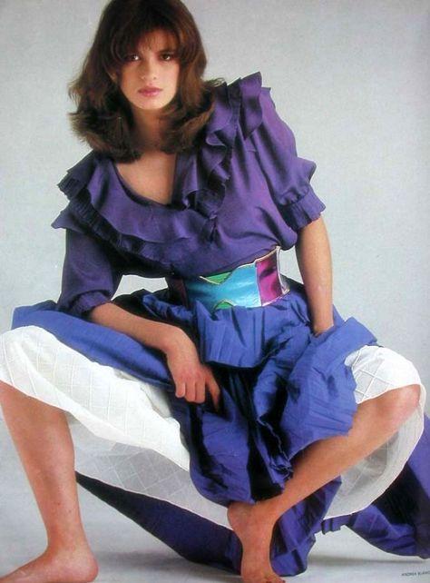 Gia Carangi Editorials: Harper's Bazaar Italia April 1982 by Andrea Blanch