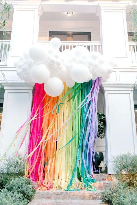 Eye Candy: Pinterest Favorites This Week, rainbow balloon arrangement