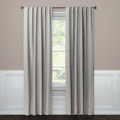 95 X50 Aruba Linen Blackout Curtain Panel Gray Threshold Linen Blackout Curtains Panel Curtains Blackout Curtains