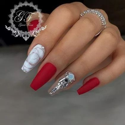 37+ new coffin nails ideas for this summer 2019 34