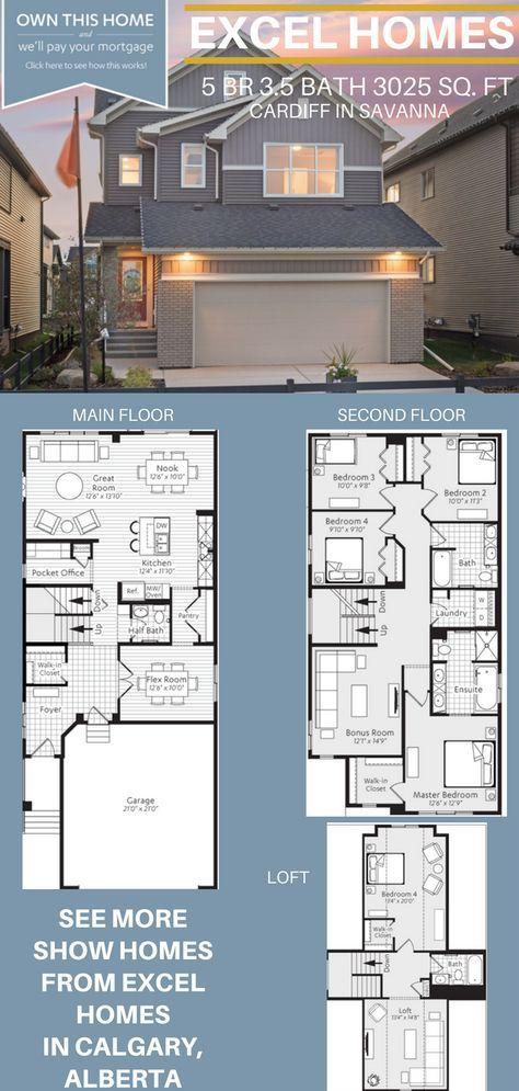 Three Story Floorplan 5 Bedroom 3 5 Bathoom Home House Ideas House Inspiration Cardiff By Excel Narrow House Plans Narrow Lot House Plans House Layouts