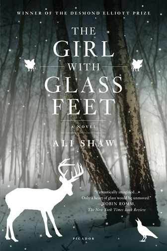 """Bleak landscapes, flurries of snow, and frozen lakes set the scene for Shaw's first novel, winner of the Desmond Elliot Prize, The Girl with Glass Feet (Henry Holt and Co., 2010), where winged cows and albino dragonflies flutter around the remote island, St. Hauda's, """"icy bogland"""". A melancholy, truly beautiful novel about a cursed girl, slowly turning to glass from the feet up, who turns to a boy with a hard heart for companionship, resulting in a heart-aching tale of love. Shaw's prose moves w"""