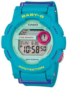 5bf20437667 Casio Baby-G Blue Tide Graph Display Ladies Watch BGD-180FB-2ER