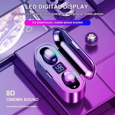 Advertisement Ebay F9 Tws Fingerprint Touch Bluetooth Earphones 8d Hd Stereo Wireless Headphone In 2020 Stereo Headphones Wireless Earphones Cell Phone Headset