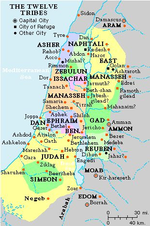 Maps12 Tribes Of Isreal Bible Pinterest Israel Bible and History