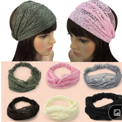 Wide headbands to cover hair loss.