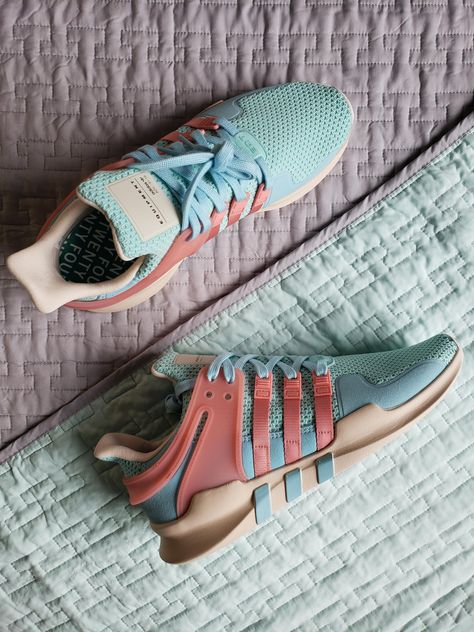 Designed my own a e s t h e t i c colorways for the Adidas EQT. Love these shoes