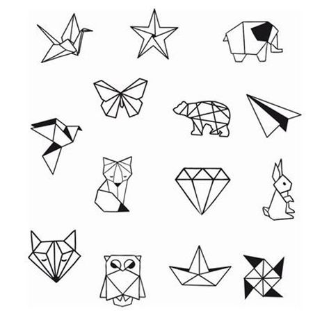 Geometric Animal Diamond Shapes Ankle Wrist Temporary Tattoo -Ankle Tattoo - Party Tattoo