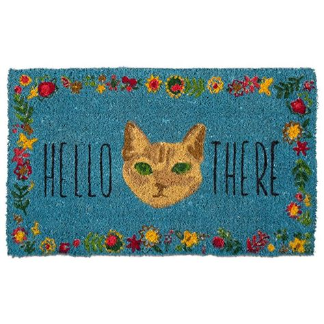 Tag Hello There Cat Coir Mat Decorative All Season Mat For The