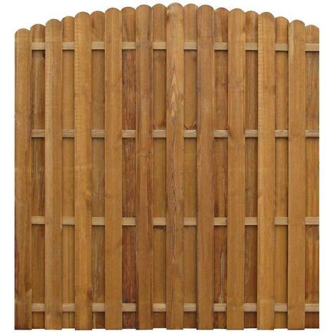vidaXL 30x Impregnated Fence Slat Outdoor Garden Lawn Patio Fencing Picket Screen Panel Edging Border Barrier 100cm FSC Wood