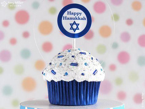 Hanukkah cupcake