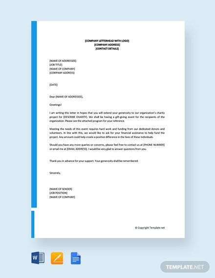 Free Solicitation Letter Templates Edit Download Template Net Solicitation Letter Support Letter Professional Reference Letter