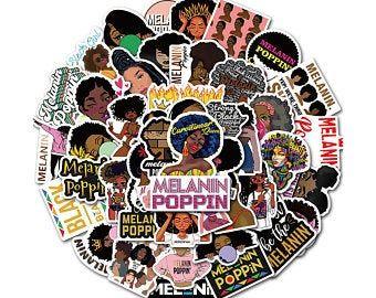 Black Girl Planner Etsy Girl Stickers Melanin Poppin Black Girls Melanin Poppin