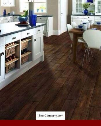 Wood Tile Against Floor And