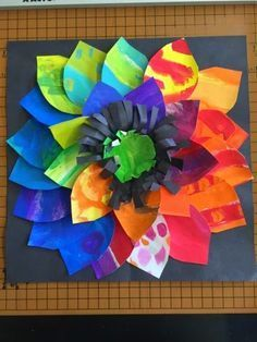 Color It Like you MEAN it!: Painted paper flowers, 2nd grade | Kids