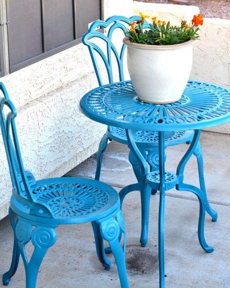 Sedie Da Esterno Colorate.Tavolini Da Giardino In Ferro Per La Casa Tavolo E Sedie Da