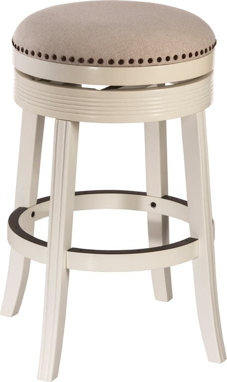 199 Bar And Game Room Taylor White Backless Barstool Bar Stools White Bar Stools Swivel Bar Stools